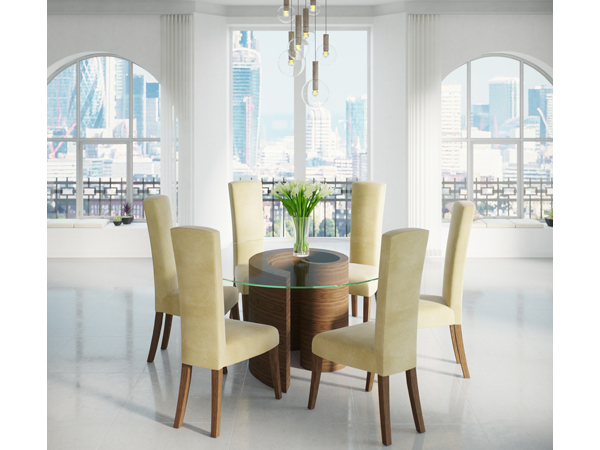 Whirl-dining-table-poise-chairs-tom-schneider