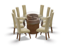 Whirl-double-dining-table-poise-chairs-tom-schneider