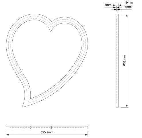 Amour wall mirror dims copy