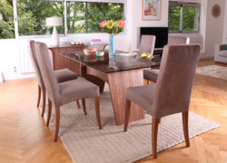 Charlotte_dining_glass_top_sophia_chairs_Living_by_Tom_Schneider