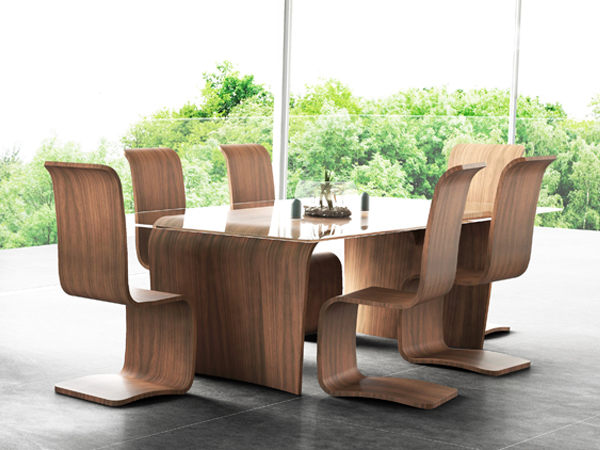 Curl_Chairs_Curl_Dining_Table_tom_schneider_curved_furniture