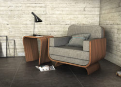 Curl_scene_armchair_lamp_table_tom_schneider_curved_furniture