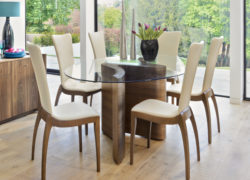 Sasha_chairs_Serpent_dining_table_tom_schneider_curved_furniture