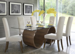 Swirl_Dining_table_walnut_Poise_chairs_tom_schneider_curved_furniture