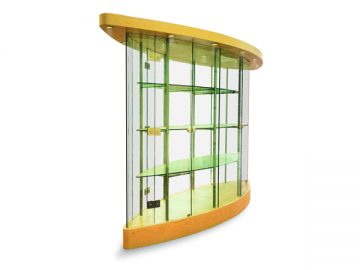 Oval Glass Display Cabinet