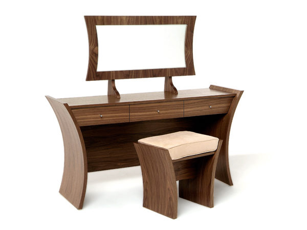Tom Schneider Designs - Embrace Dressing Table with Mirror and Stool