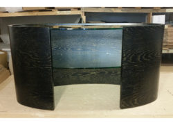 Ellipse TV Media Unit. Stained black