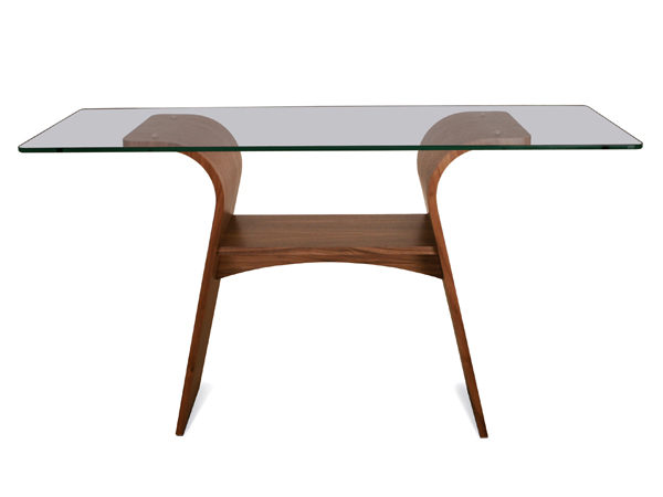 Charlotte Console Table, Glass Top