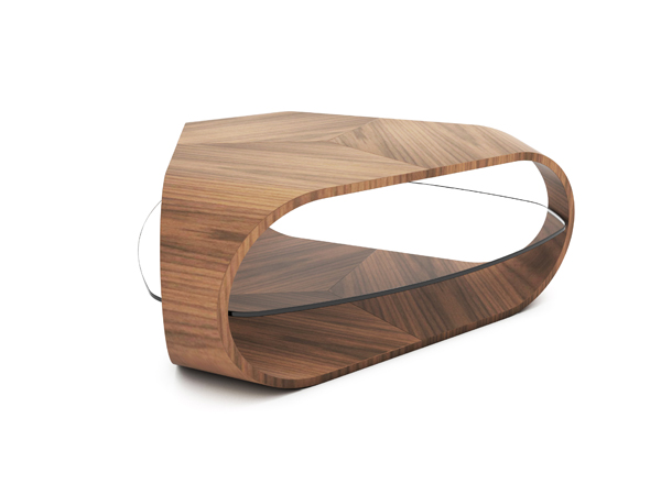 Cornerless Tri Coffee Table