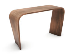Curl Side Table, Walnut Natural. Ex-display.