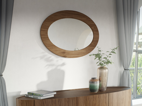 Ellipse Wall Mirror