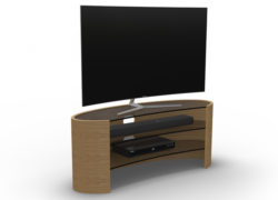 Elliptical TV Media Table