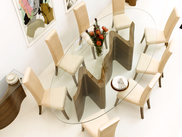 Serpent Dining Table Double Base (Clearance)
